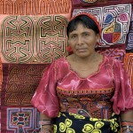 Kuna woman selling Molas in Panama City