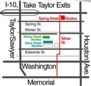 Map to Spring St and Winter St Galleries