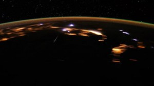 Lyrid Meteor Shower form the ISS